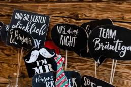 Photobooth Schilder von Partyservice Brielbeck zur Fotobox Straubing