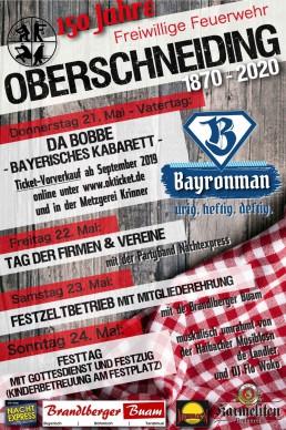 Partyservice Brielbeck in Ascha bei Straubing als Lieferant für 150 Jahre Gründungsfest FFW Oberschneiding