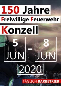 Partyservice Brielbeck in Ascha bei Straubing als Lieferant für 150 Jahre Gründungsfest FFW Konzell